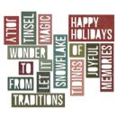 660976 Sizzix Thinlits Die Set 16PK - Holiday Words 2: Block  by Tim Holtz